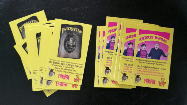 Flyers for Ferris Wheel and Lovecrafted