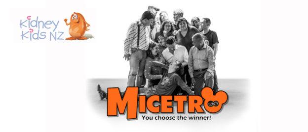 Banner advertising Micetro for Kidney Kids NZ