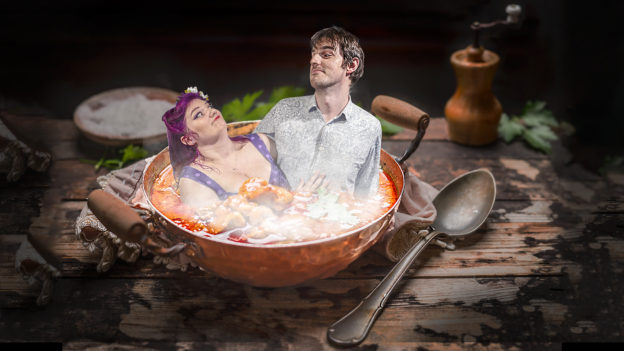 Mike and Hayley in a bowl of stew!